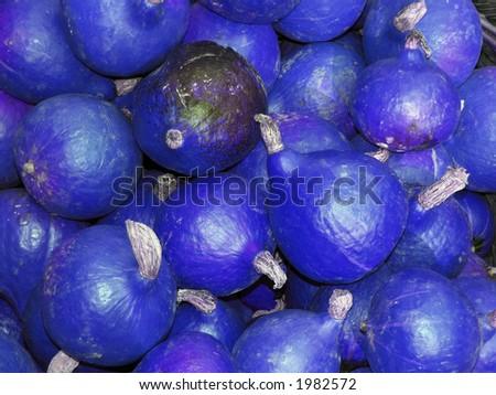 blue pumpkin - stock photo