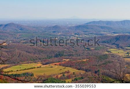 Blue Ridge Mountains in Virginia - stock photo