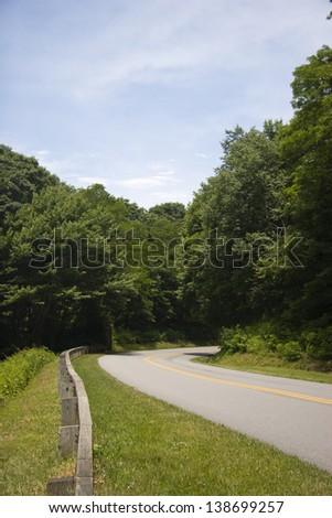 Blue Ridge Parkway Road - stock photo