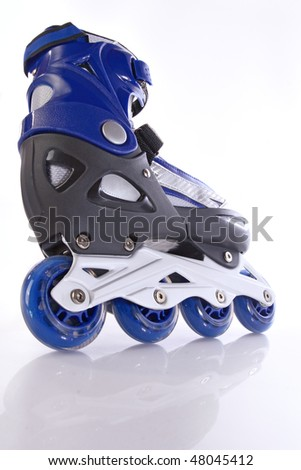 blue rollerscates - stock photo