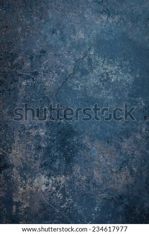 Blue Rustic Metal Background - stock photo