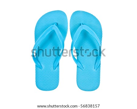 Blue sandals - stock photo