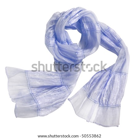 blue scarf - stock photo