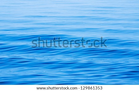 blue sea - stock photo