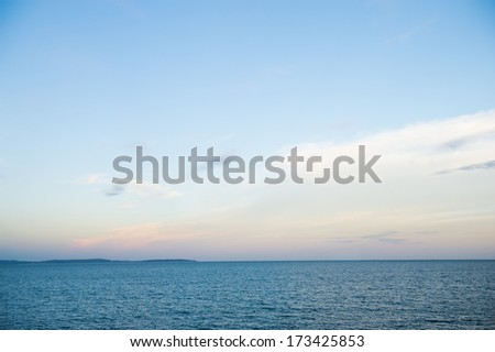 Blue sea and sky for background. - stock photo