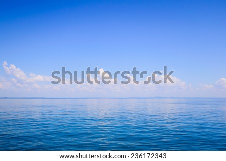 blue sea space sky background - stock photo