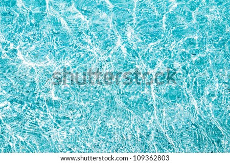 Blue sea water surface - stock photo