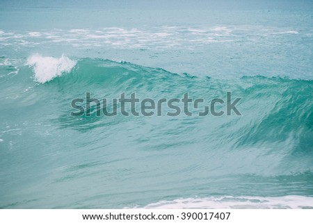 Blue sea wave  - stock photo