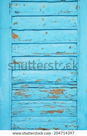 Blue shutter background - stock photo