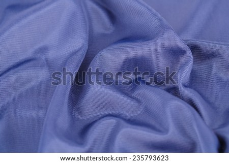 Blue silk fabric for background. - stock photo