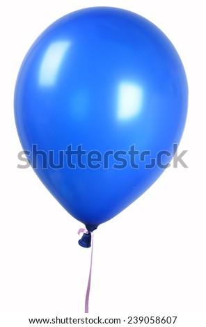 Blue Single balloon - stock photo