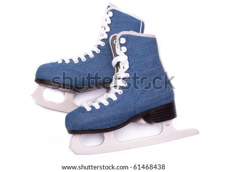 Blue skates - stock photo