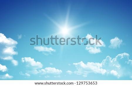 Blue sky. - stock photo