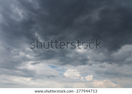 Blue sky after sunset - stock photo