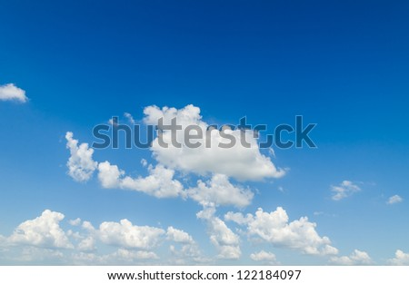 Blue sky and cloud. - stock photo