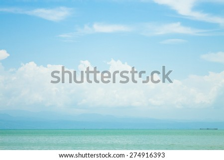 Blue sky and cloud over the Gulf of thailand - stock photo