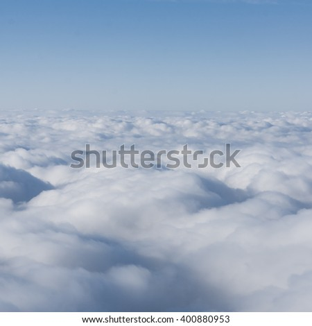 Blue sky and clouds. Cloudscape - stock photo