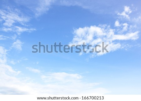 Blue sky and clouds Natural background space - stock photo