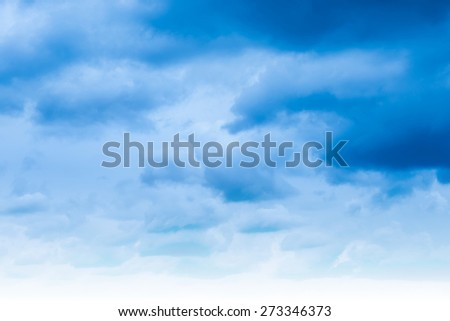 Blue sky and clouds. Natural heaven background - stock photo