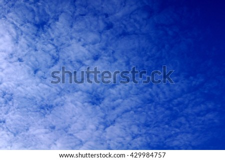 Blue sky and cloudyTexture - stock photo