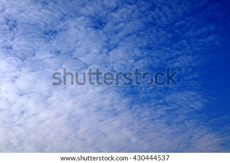 Blue sky and clound Texture - stock photo