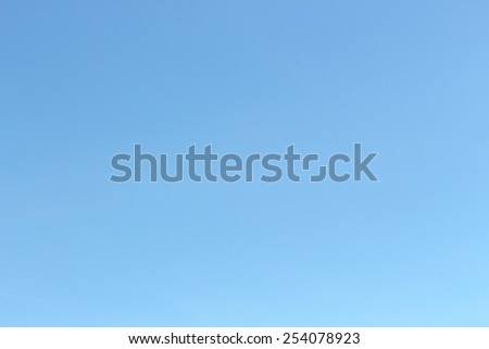 blue sky and haze but no cloud - stock photo
