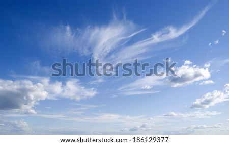 blue sky and horizon for successful advertisement  - stock photo