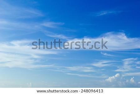 Blue sky and sea, Sea summer - stock photo