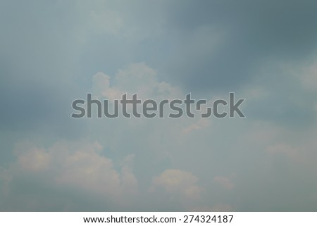 Blue sky and white cloud - stock photo