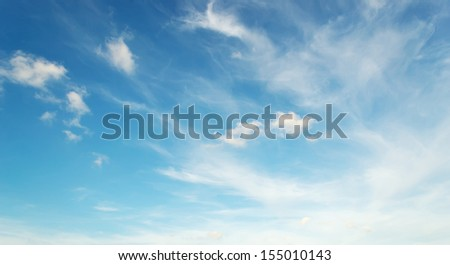 blue sky and white clouds - stock photo