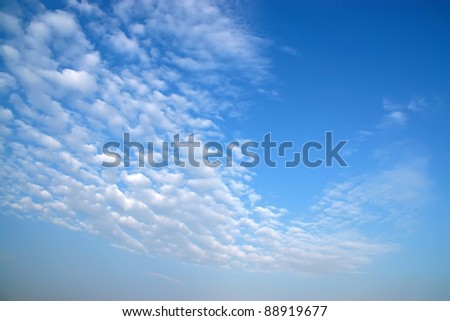 blue sky and white clouds sunny - stock photo