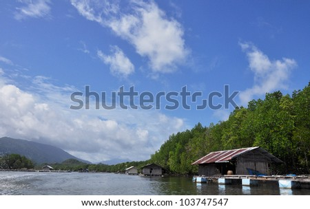 Blue sky at the Andaman sea. - stock photo