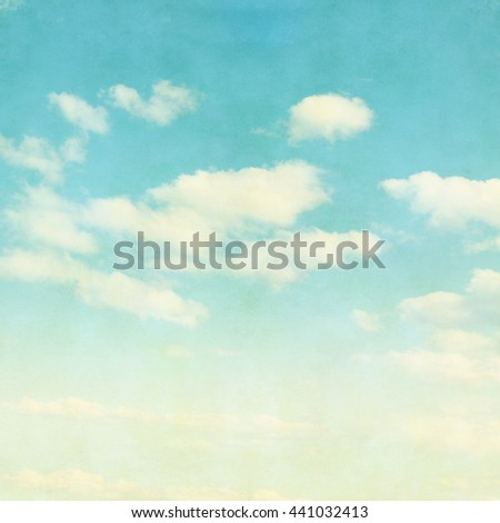 Blue sky background in grunge and retro style. - stock photo