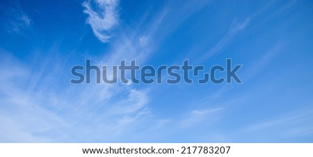 blue sky. clouds in the blue sky - stock photo
