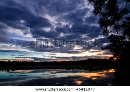 Blue Sky Dawn - stock photo
