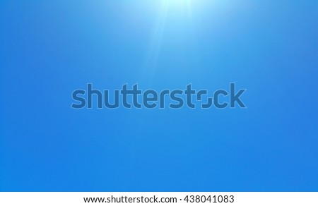 Blue sky in the clear sky day image background - stock photo