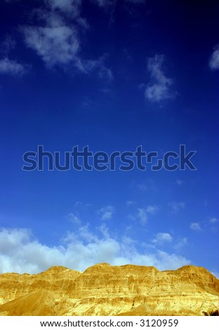 Blue sky in the desert - stock photo