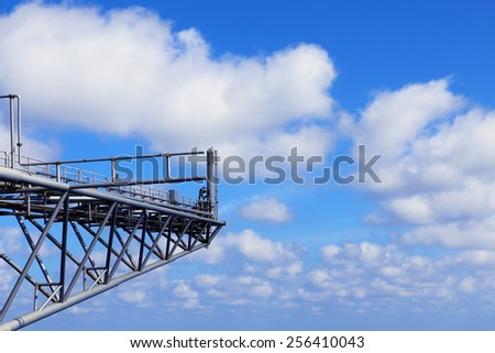 Blue Sky Offshore - stock photo