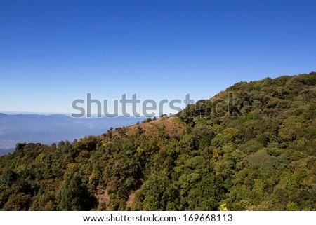 Blue sky Scenic Landscape Appalachian Mountains - stock photo
