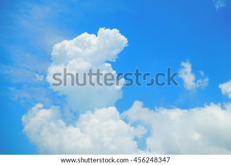 Blue sky white clouds - stock photo