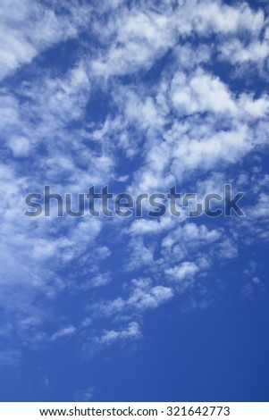 Blue sky with cirrocumulus clouds - stock photo