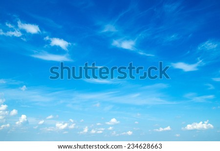 blue sky with cloud closeup - stock photo