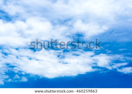 blue sky with cloud closeup Blue sky with clouds background blue sky background with tiny clouds Sky daylight. Natural sky composition. Element of design. - stock photo