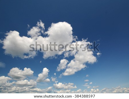 blue sky with cloud closeup super light in day - stock photo