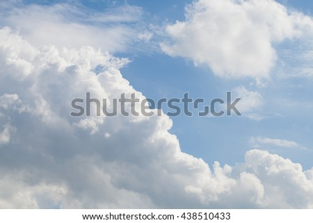 blue sky with cloud, concept of hope, new start, Fresh - stock photo