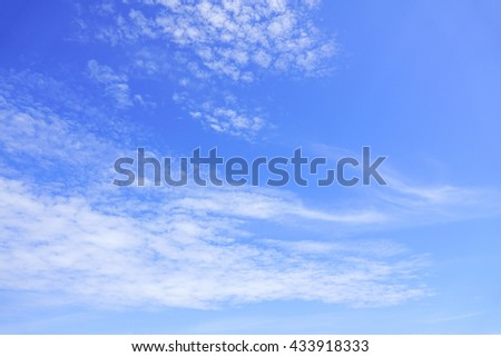 blue sky with cloud:ideal use for background. - stock photo