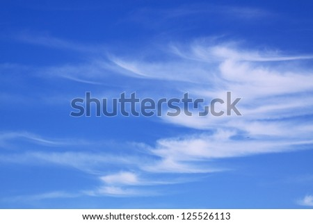 Blue sky with clouds for background - stock photo