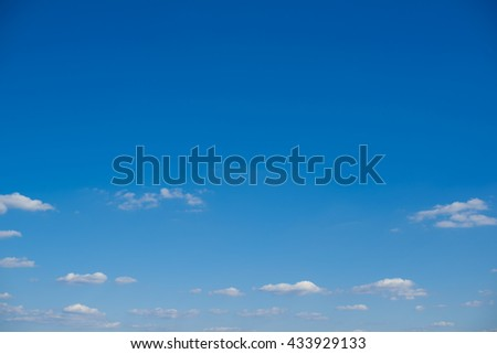 blue sky with tiny clouds - stock photo