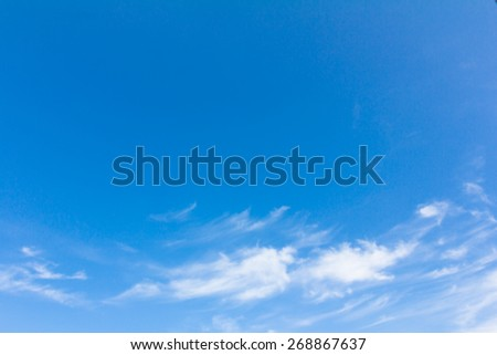 blue sky with white cloud for background  - stock photo