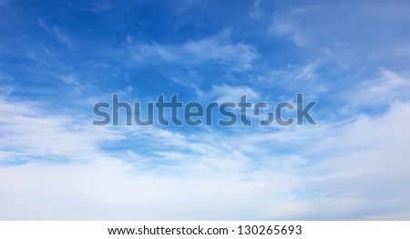 blue sky with white clouds, general form - stock photo